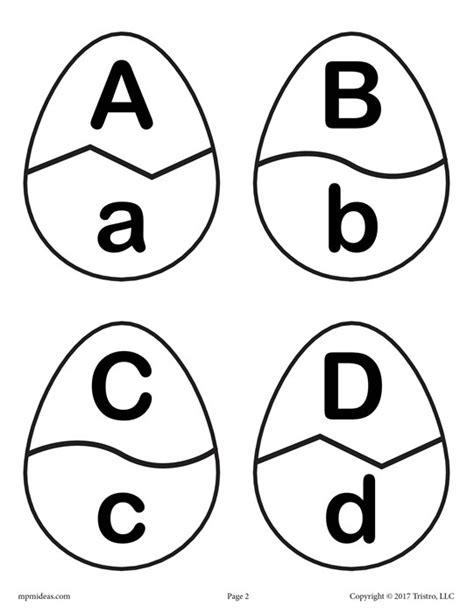 printable easter alphabet letters easter egg alphabet matching game free printable spring