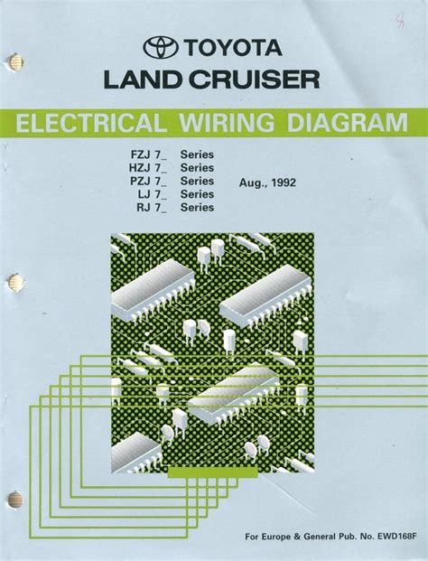 1992 toyota landcruiser electrical wiring diagram workshop