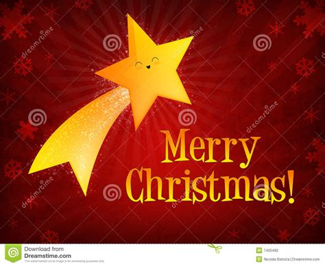 merry christmas shooting star stock photography image