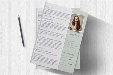 fancy cv template a clean resume and cover letter set coriander herb