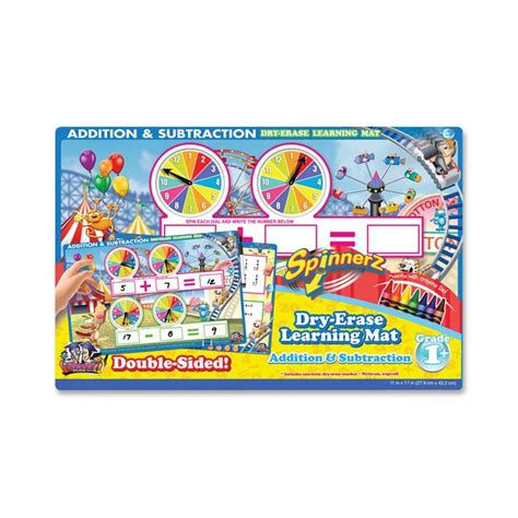 Erase Mat by The Board Dudes Spinnerz Erase Learning Mat Theme