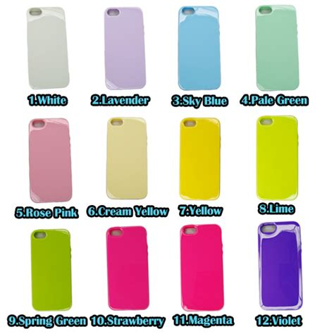 For Iphone 5 5s Soft Jelly Pastel Color Casing Iphone 5 5s 3 tpu jelly soft skin cover 16 pastel rainbow color for