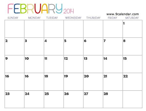 Calendar February 2014 Quotes February 2014 Calendar Quotesgram