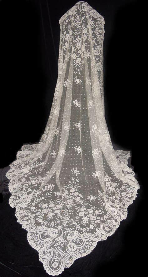 Lace Wedding Veil antique carrickmacross lace wedding veil shawl