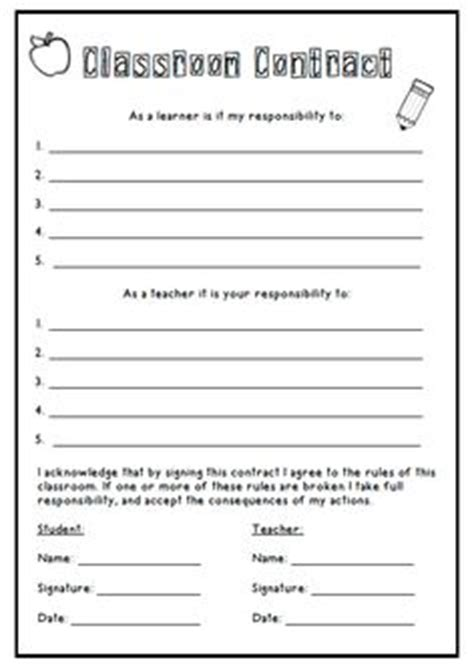 responsibility contract template 1000 images about learning contracts on