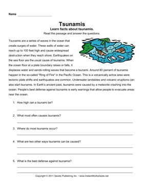 Tsunami Worksheets For Middle School by 18 Science Worksheets Volcanoes Volcano Printables