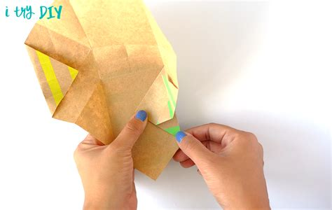 Origami Popcorn Box - mini origami shopping bag i try diy