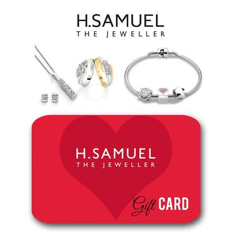 H Samuel Gift Card - full wedding gift list range the gift list