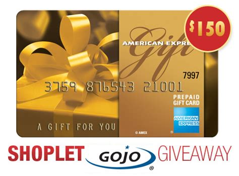 Amex Giveaway - gojo 150 amex gift card giveaway shoplet blog