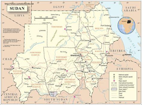 karte sudan karte auf land sudan