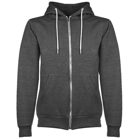 Hoodie Zipper Uber 1 mens plain hoodie fleece knit zip up hoody jacket hooded
