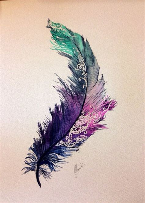 25 best ideas about color feather tattoos on pinterest