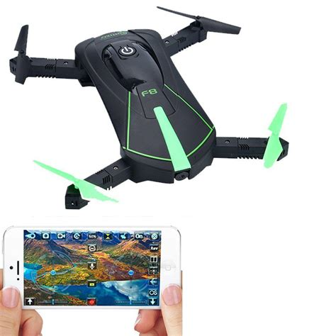 Pocket Drone by Contixo Foldable Pocket Selfie Drone F8 Green The Home Depot