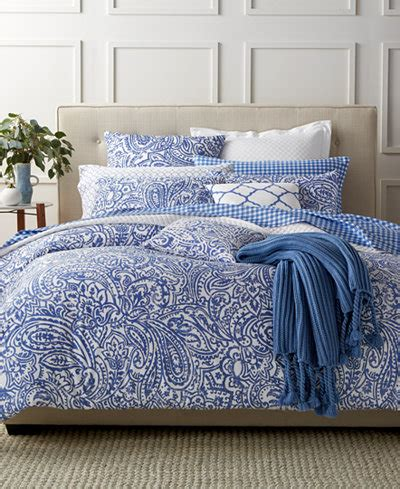 charter club bedding charter club damask designs paisley denim full queen