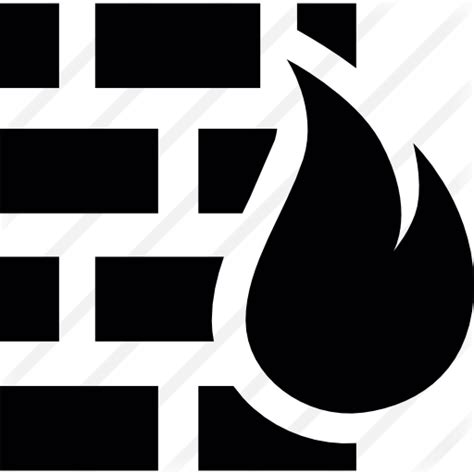 Firewall with Flame - Free security icons