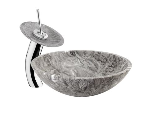 vessel sink with waterfall faucet combo vessel sink with waterfall faucet combo gondolasurvey