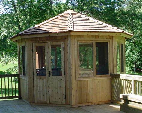 gazebo kit cedarshed 12 ft octagon all season gazebo 128asp