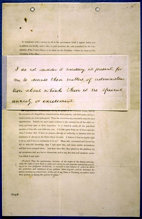 abraham lincoln inaugural address abraham lincoln draft of 1st inaugural address