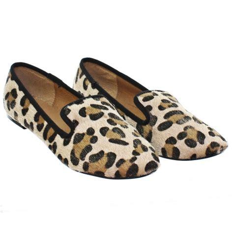 leopard womens loafers womens leopard print slipper loafer flats pumps