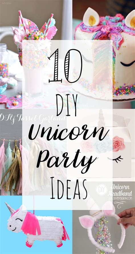 Kids Birthday Decorations At Home by 10 Diy Unicorn Party Ideas Doodle And Stitch
