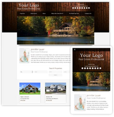 Real Estate Website Templates From Real Estate Designer Rustic Website Template