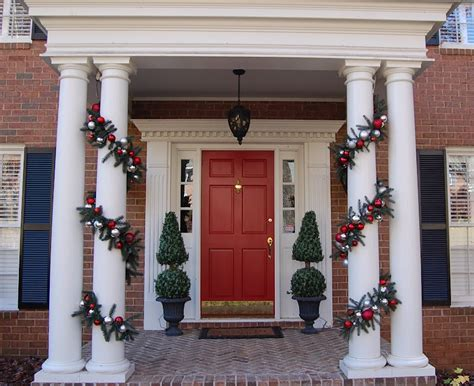 ideas for decoratingpillars for xmas 50 front porch decor ideas to make this year