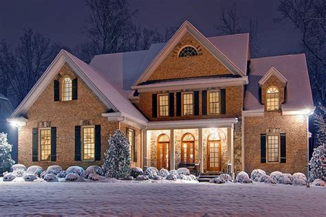 christmas houses in snow beautiful house photography snow image 303808 on favim