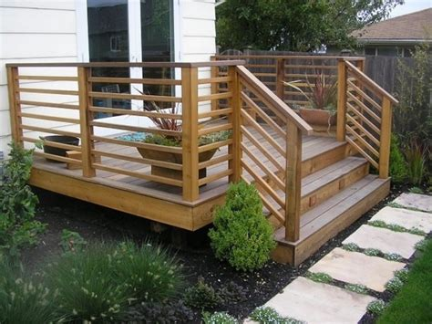 Patio Deck Railing Designs Horizontal Deck Railing The Advantages And Disadvantages Homesfeed