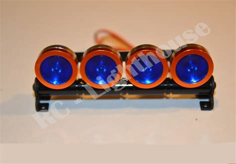 Rc Led Light Bar In Orange With Blue Lenses Rc Lighthouse Orange Led Light Bar