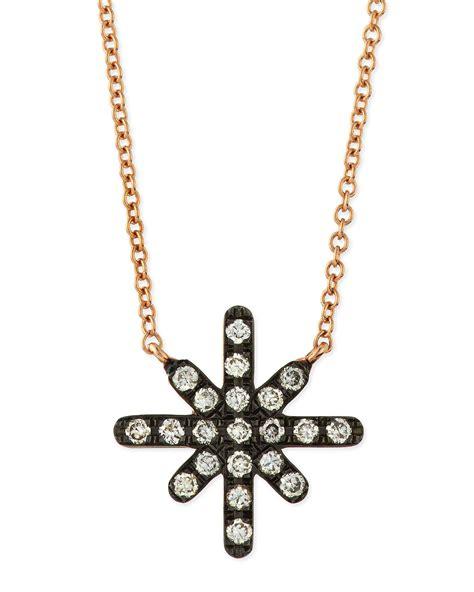 Diane Black Choker lyst diane kordas white starburst necklace in metallic