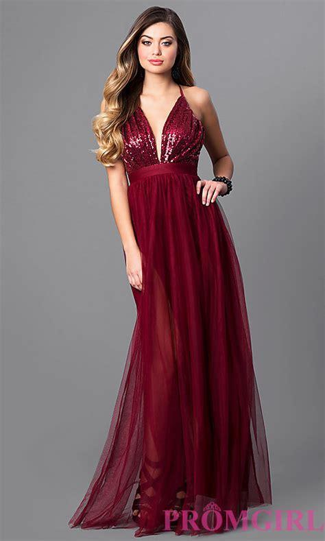Dress Yachtien empire waist v neck prom dress promgirl