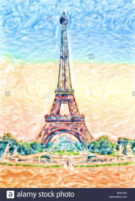 watercolor painting of eiffel tower stock photo royalty free image 31160831 alamy