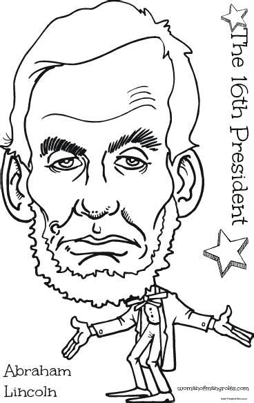 free printable coloring page of abraham lincoln the 16th president abraham lincoln coloring page woman