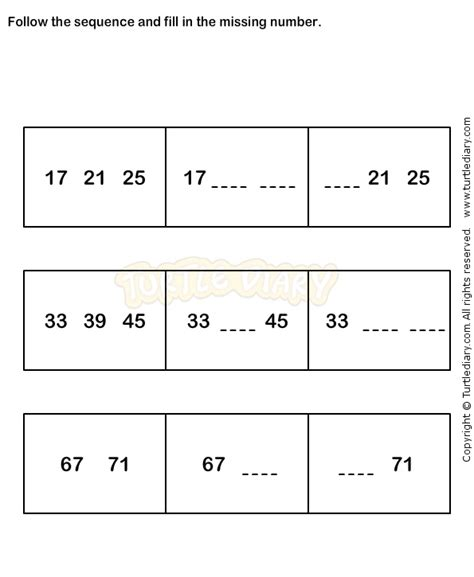 pattern sequencing activities number sequence worksheet 6 math worksheets