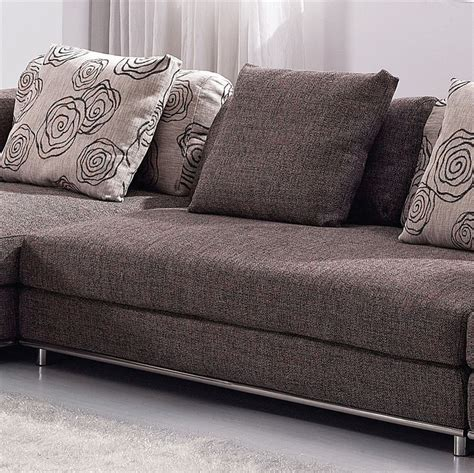 couch material contemporary modern brown fabric sectional sofa tos anm9708 2