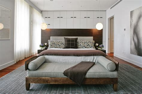 sofa at foot of bed when modern minimalism design meets macdougal manor in a