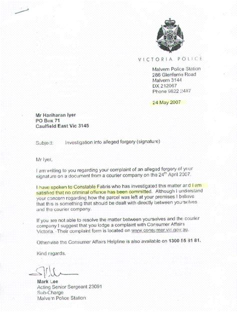 Official Letter To Station Exle Of Complaint Letter To Station No