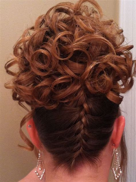 how to do an upside down french braid bun upside down braid with ringlet curls i do do you