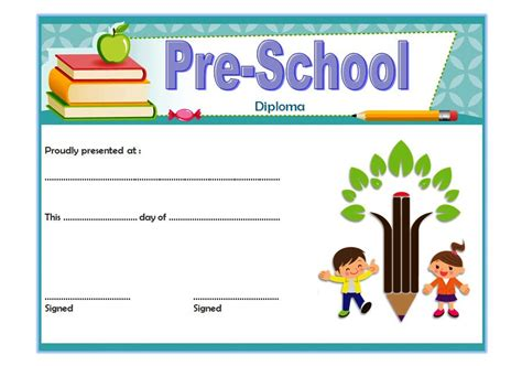 templates of certificates and diplomas preschool diploma certificate template 2 best 10 templates