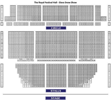 best seats royal festival royal festival seat plan for slavas snowshow at royal