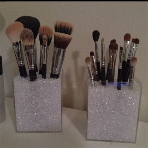 Makeup Brush Holders With Acrylic Boxes Vase Filler