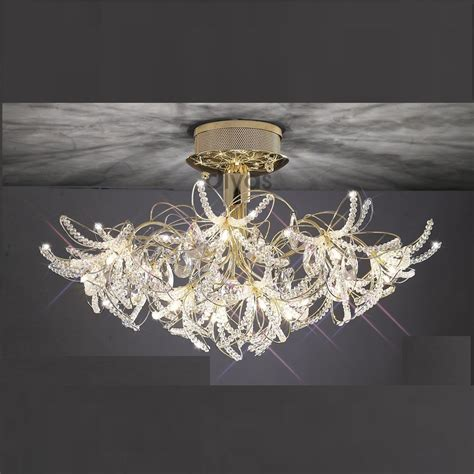 Gold Ceiling Lights Diyas Uk Kenzo Il Il30890 Gold Twenty Four Light Ceiling Light
