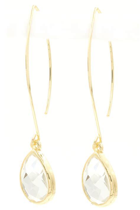 Threader Earrings teardrop threader earrings