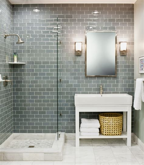 glass tile in bathroom 35 blue grey bathroom tiles ideas and pictures