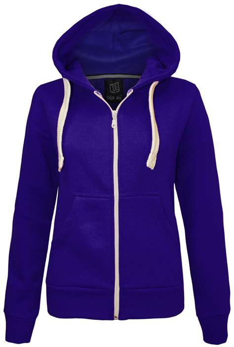 Jaket Parka Hoodie Aftersix new womens plain zip hoodie sweatshirt fleece hooded jacket sizes 6 20 ebay