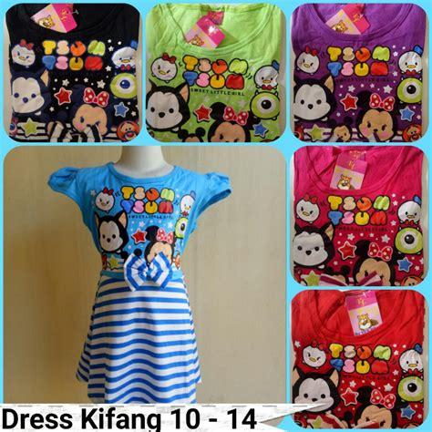 Baju Anak Dress 14 grosir dress kifang size 10 14 anak cewe karakter murah 22ribu