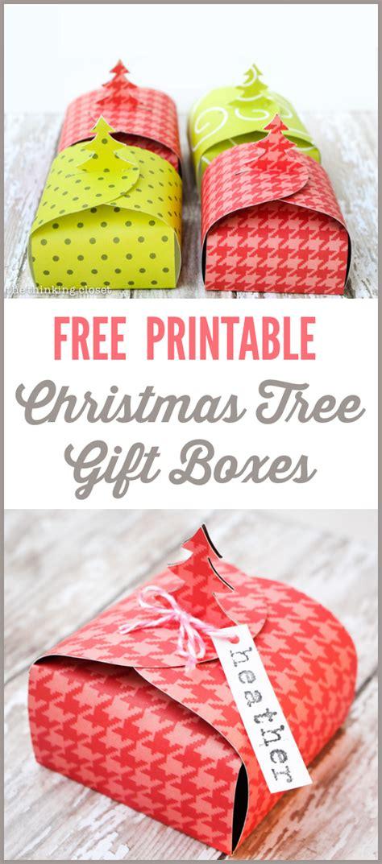 free printable christmas tree gift boxes christmas tree gift boxes free printable the thinking