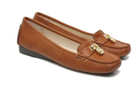 michael kors womens loafers michael michael kors hamilton loafer loafers in brown at