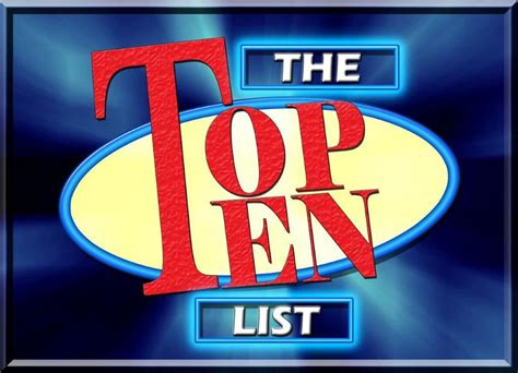 Evn S Top Ten List On Election Security Election Academy Top 10 Powerpoint Templates