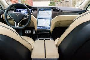 Electric Car Tesla Interior Review Tesla Motors All Electric Model S Is Fast But Is